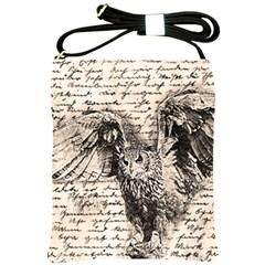 Vintage owl Shoulder Sling Bags