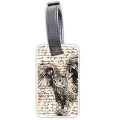 Vintage owl Luggage Tags (Two Sides)