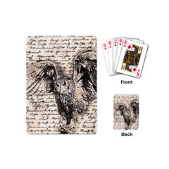 Vintage owl Playing Cards (Mini)