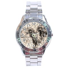 Vintage owl Stainless Steel Analogue Watch