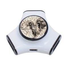 Vintage owl 3-Port USB Hub