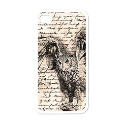 Vintage owl Apple iPhone 4 Case (White)
