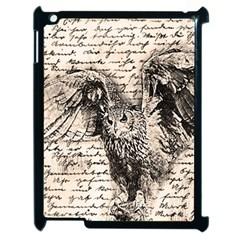 Vintage owl Apple iPad 2 Case (Black)