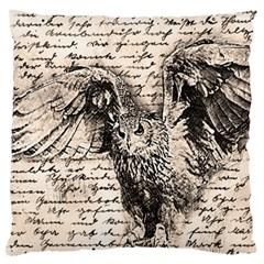 Vintage owl Large Cushion Case (One Side)