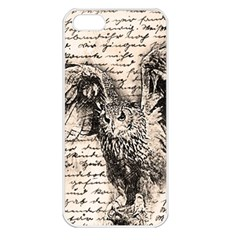Vintage owl Apple iPhone 5 Seamless Case (White)