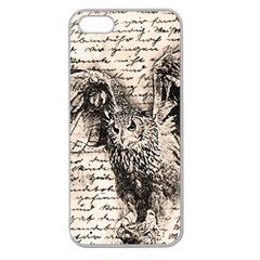 Vintage owl Apple Seamless iPhone 5 Case (Clear)