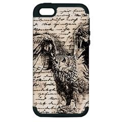 Vintage owl Apple iPhone 5 Hardshell Case (PC+Silicone)