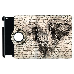 Vintage owl Apple iPad 2 Flip 360 Case