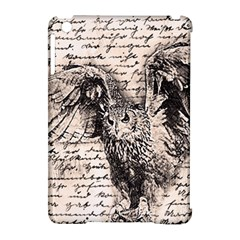 Vintage owl Apple iPad Mini Hardshell Case (Compatible with Smart Cover)