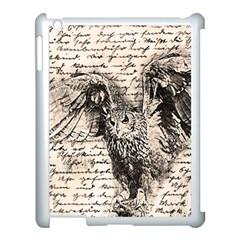 Vintage owl Apple iPad 3/4 Case (White)
