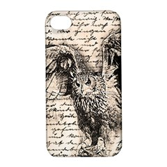 Vintage owl Apple iPhone 4/4S Hardshell Case with Stand
