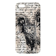 Vintage owl Apple iPhone 5 Premium Hardshell Case