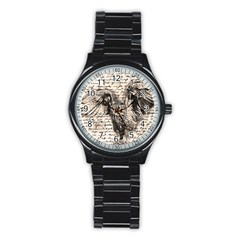 Vintage owl Stainless Steel Round Watch