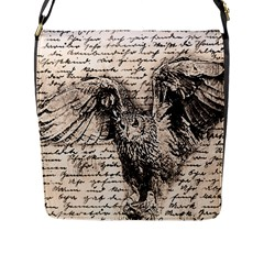 Vintage owl Flap Messenger Bag (L)