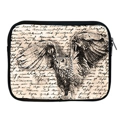 Vintage owl Apple iPad 2/3/4 Zipper Cases