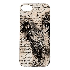 Vintage owl Apple iPhone 5S/ SE Hardshell Case