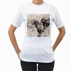 Vintage owl Women s T-Shirt (White)
