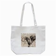 Vintage owl Tote Bag (White)