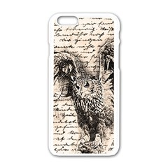 Vintage owl Apple iPhone 6/6S White Enamel Case