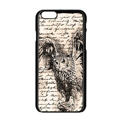 Vintage owl Apple iPhone 6/6S Black Enamel Case