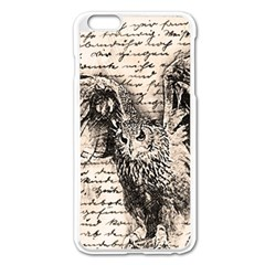 Vintage owl Apple iPhone 6 Plus/6S Plus Enamel White Case
