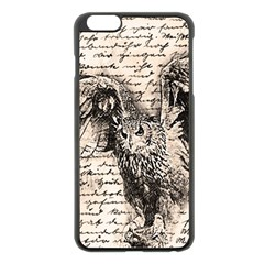 Vintage owl Apple iPhone 6 Plus/6S Plus Black Enamel Case