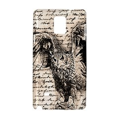 Vintage owl Samsung Galaxy Note 4 Hardshell Case