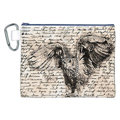 Vintage owl Canvas Cosmetic Bag (XXL)