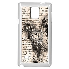 Vintage owl Samsung Galaxy Note 4 Case (White)