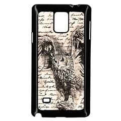 Vintage owl Samsung Galaxy Note 4 Case (Black)