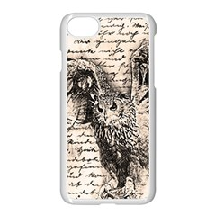 Vintage owl Apple iPhone 7 Seamless Case (White)