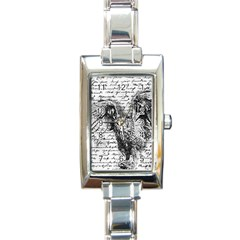 Vintage owl Rectangle Italian Charm Watch