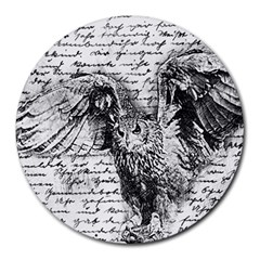 Vintage owl Round Mousepads