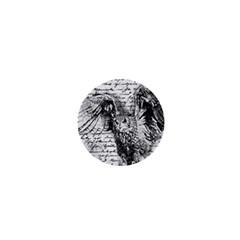 Vintage owl 1  Mini Buttons