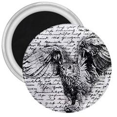 Vintage owl 3  Magnets
