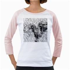 Vintage owl Girly Raglans