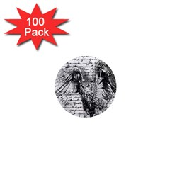 Vintage owl 1  Mini Magnets (100 pack)