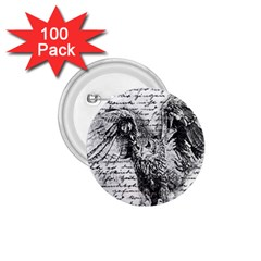 Vintage owl 1.75  Buttons (100 pack)