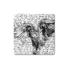 Vintage owl Square Magnet
