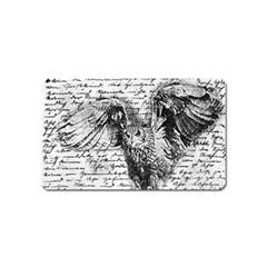 Vintage owl Magnet (Name Card)