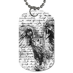 Vintage owl Dog Tag (One Side)
