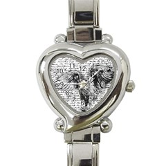 Vintage owl Heart Italian Charm Watch