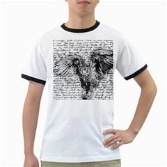 Vintage owl Ringer T-Shirts