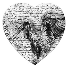 Vintage owl Jigsaw Puzzle (Heart)