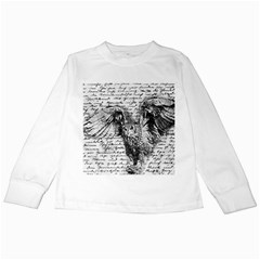 Vintage owl Kids Long Sleeve T-Shirts