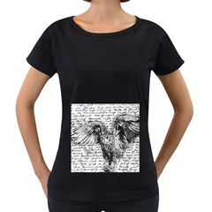 Vintage owl Women s Loose-Fit T-Shirt (Black)