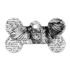 Vintage owl Dog Tag Bone (One Side)