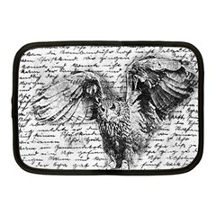 Vintage owl Netbook Case (Medium)