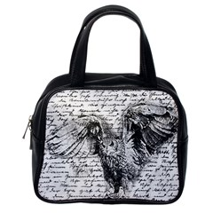Vintage owl Classic Handbags (One Side)