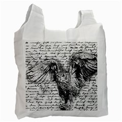 Vintage owl Recycle Bag (Two Side)